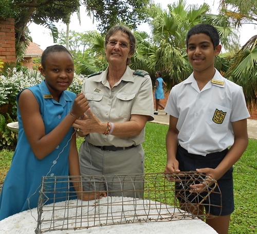 Officer from emvelo kzn wildlife, and claude naidoo our head boy